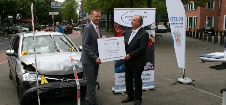 Polizei NRW kooperiert mit Verkehrsunfall-Opferhilfe