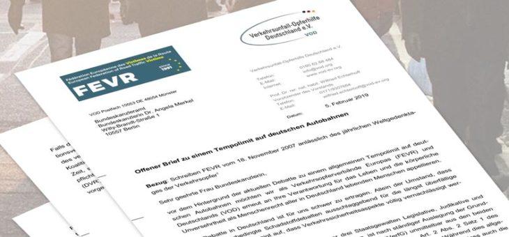 Offener Brief zu einem Tempolimit auf deutschen Autobahnen