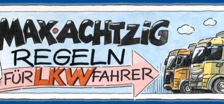 """Max Achtzig Europa Kampagne """"Hellwach mit 80 km/h"""""""
